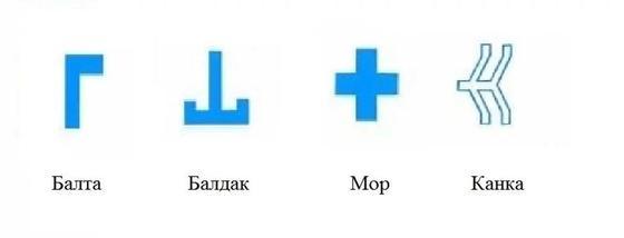 Простые казахские орнаменты