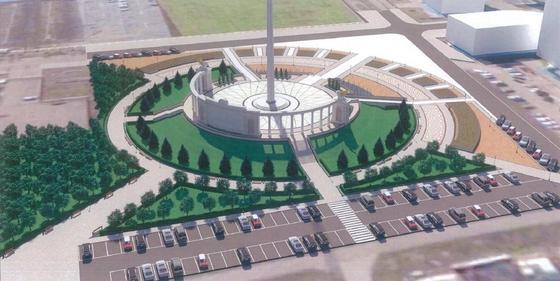 В Атырау начинается строительство 91-метрового флагштока