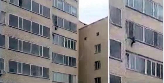 Астанчанин поймал ребенка, упавшего с 10-го этажа (видео)