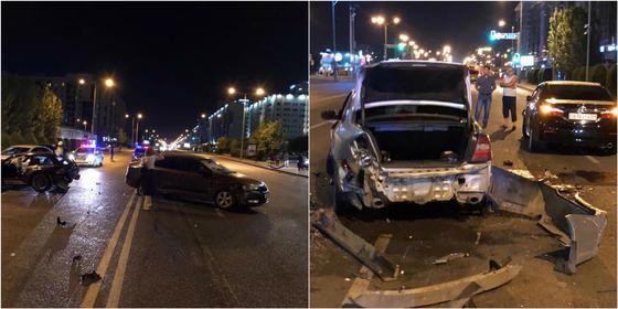 Гражданин Азербайджана устроил массовую аварию в Астане (фото)