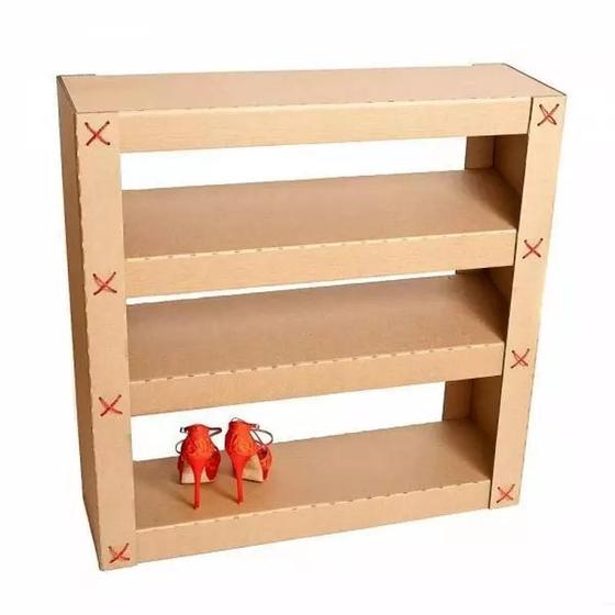 Полка для обуви картон