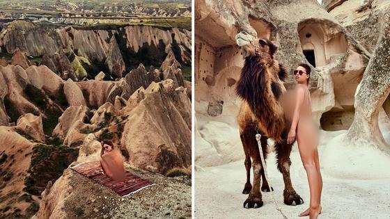 Модель Playboy показала генеталии в мечети Святой Софии в Стамбуле (фото)
