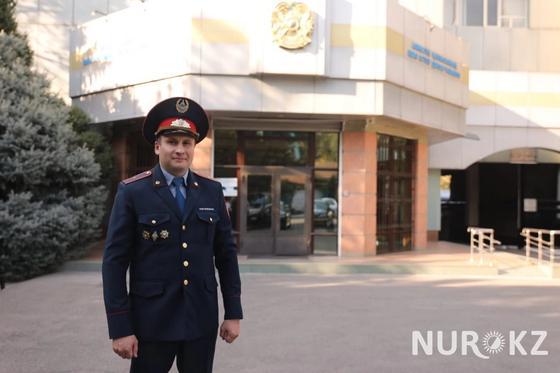 """""""Таранили машину"""": полицейский из Алматы рассказал об опасном задержании преступников"""