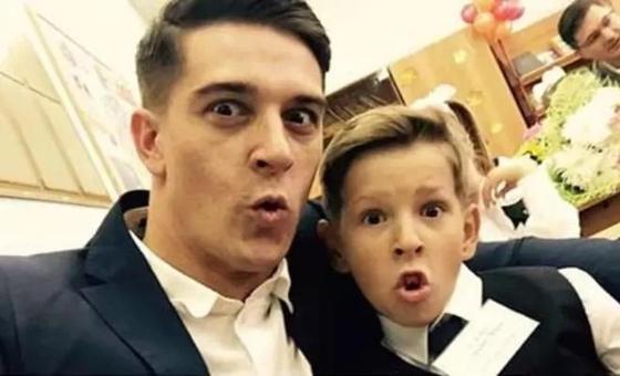 Станислав Бондаренко с сыном
