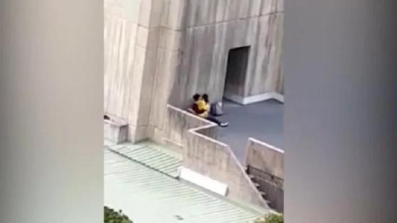 Университет жанында жыныстық қатынасқа түскен студенттер ұсталып қалды (видео)