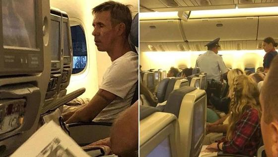Панин устроил дебош на борту самолета (фото)