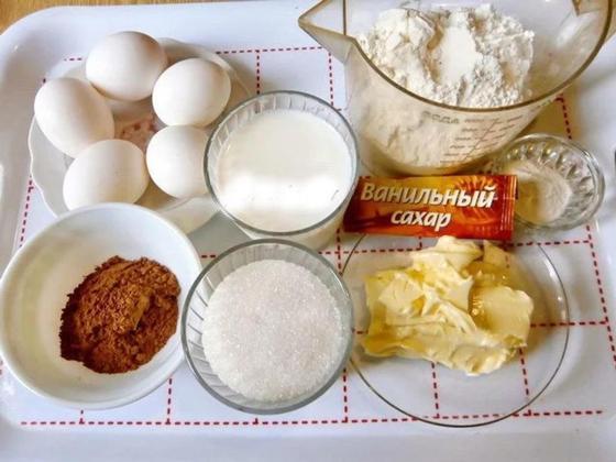 «Зебра»: пирог на кефире