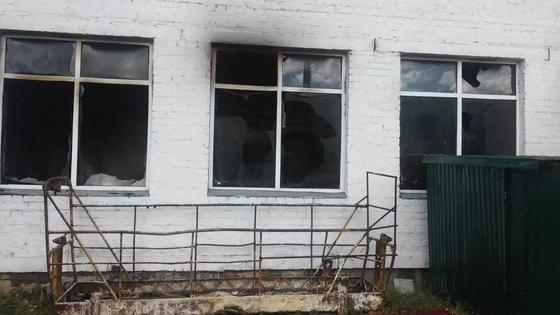 Школа горела в Павлодарской области (фото)