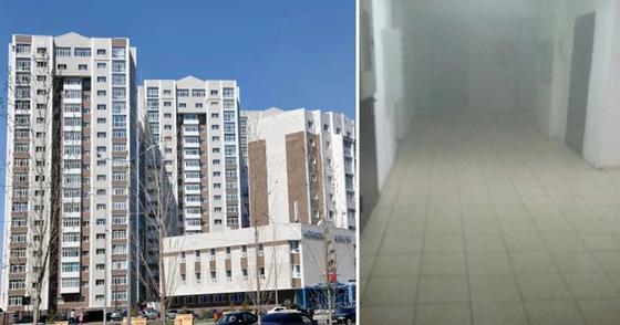 В 18-этажном ЖК Астаны загорелась шахта лифта (фото)