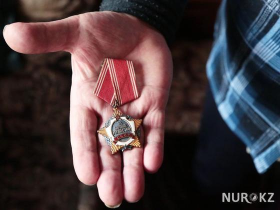 Ардагердің КСРО басшысынан алған ордені. Фото: Петр Карандашов.