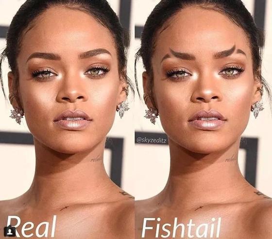 Рыбий хвост вместо бровей: Instagram захватил новый тренд