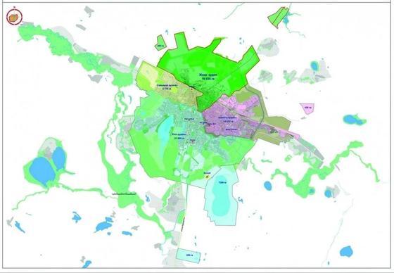 В Астане утвердили название нового, четвертого района