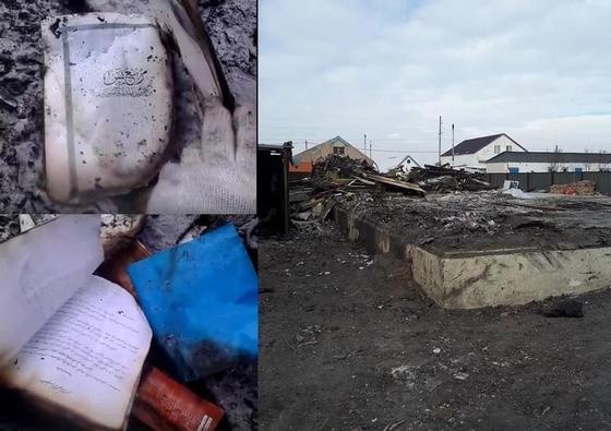 Сгорело все кроме Корана: Дом в Астане выгорел до тла (фото, видео)