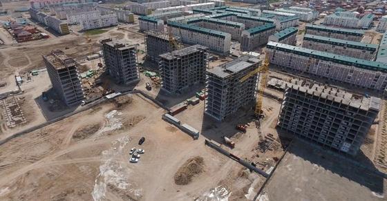 В Атырауской области строится рекордное количество жилых домов