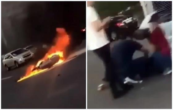 Мотоциклист погиб в жуткой аварии в Астане (видео)