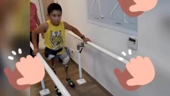 """""""Мой тигр учится ходить!"""": сбылась мечта казахстанского мальчика без ног"""