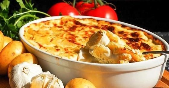 Грибы с картошкой и сыром в духовке