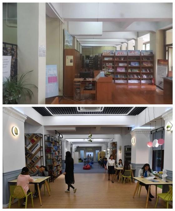 Реконструкция проспекта Назарбаева началась с библиотеки им. Жамбыла
