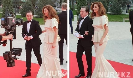 Альмира Турсын с супругом. Фото: NUR.KZ