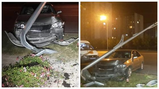 Водитель отвлекся на телефон и врезался в столб в Алматы