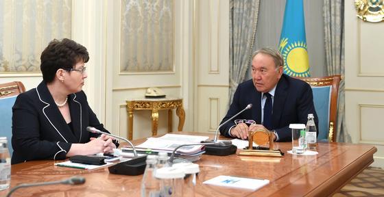 Встреча Нурсултана Назарбаева с Натальей Годуновой. Фото: akorda.kz