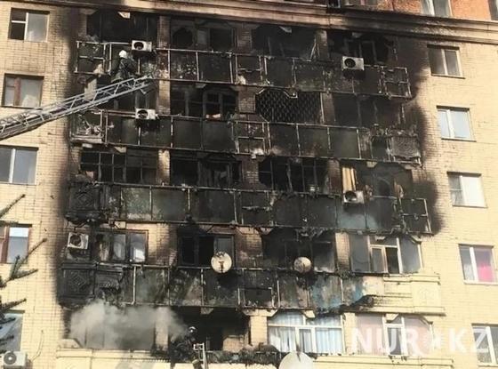 Стала известна возможная причина крупного пожара в многоэтажке в Актобе
