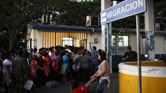 Караван мигрантов в Гватемале в 2019 году
