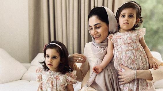 Зейнаб Джавадли с детьми