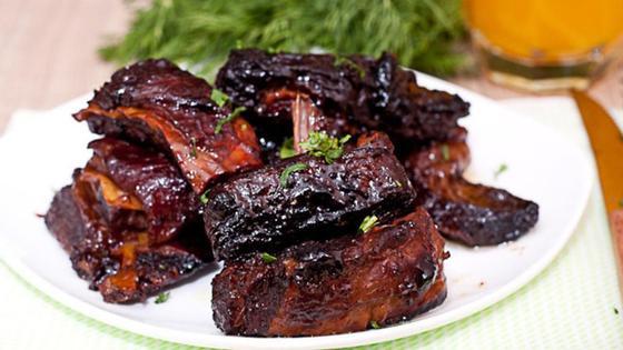 Бараньи рёбрышки в духовке с овощами: рецепт