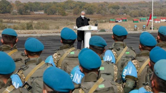 Токаев выступил перед миротворцами