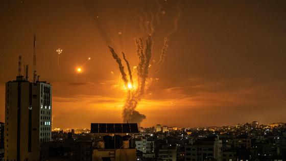Ракеты, направленные в сторону Израиля