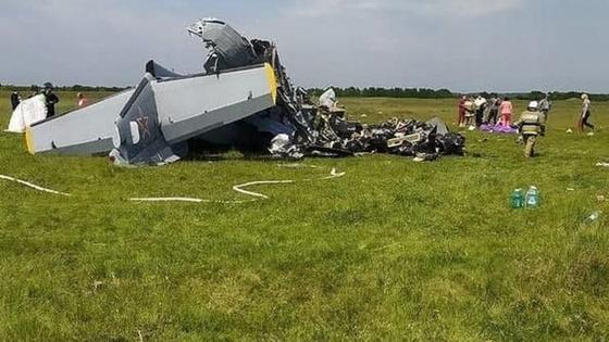Самолет разбился в Росии