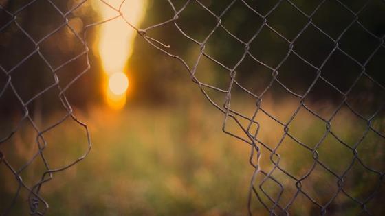 Забор с проходом