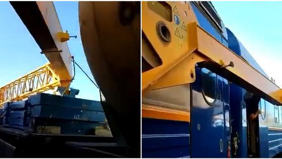 Кран повредил вагоны пассажирского поезда в Актюбинской области