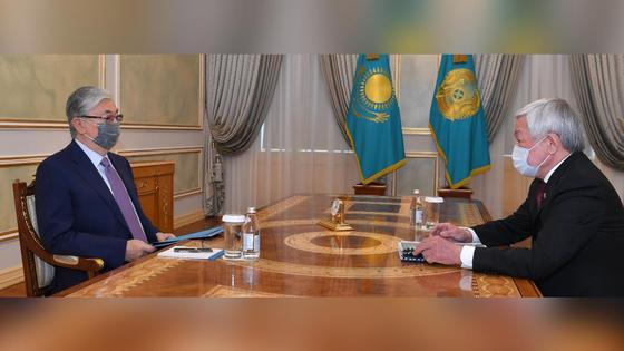 Касым-Жомарт Токаев и Бердибек Сапарбаев