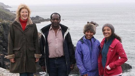 Марион, Чарльз и их дочери Джессика и Рианнон