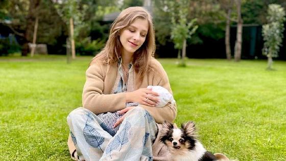 Лиза Арзамасова с сыном