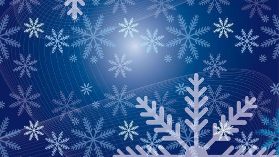снежинки на синем фоне
