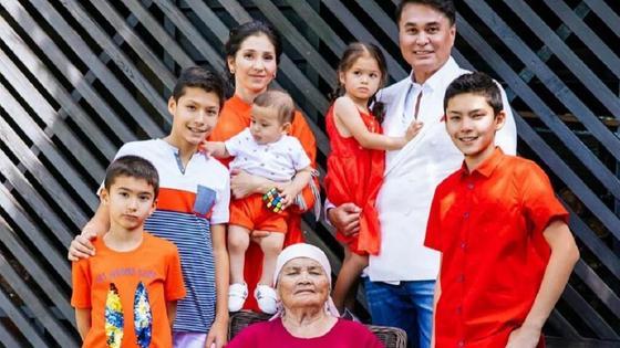 Арман Давлетяров с семьей