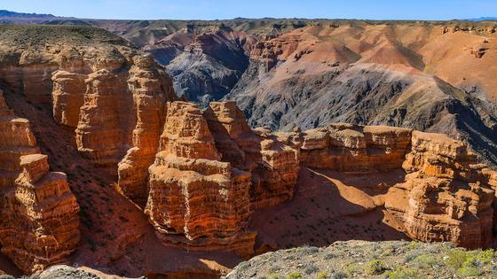 Вид на чарынский каньон