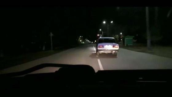 Машину уходит от преследования