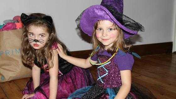 Девочки в нарядных карнавальных костюмах
