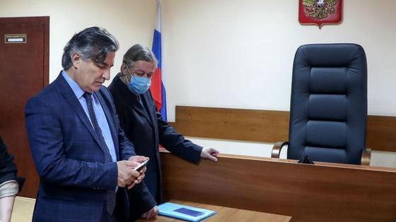 Эльман Пашаев и Михаил Ефремов в зале суда