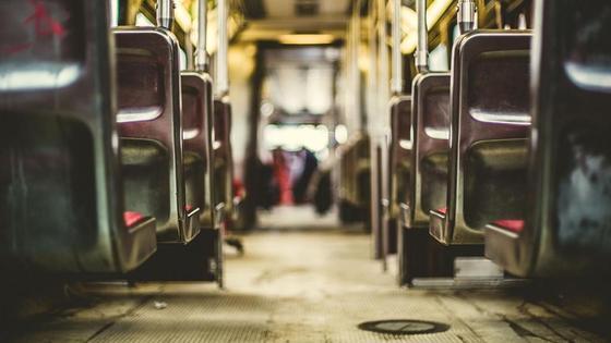 вид на автобус изнутри