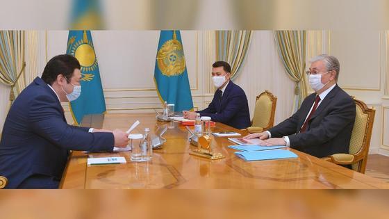 Член НСОД на приеме у Касым-Жомарта Токаева