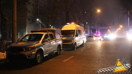 Место убийства в Алматы