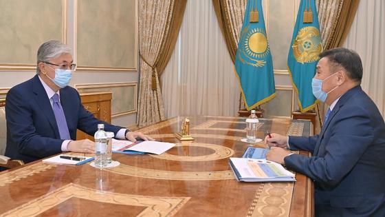 Касым-Жомарт Токаев и Марат Ахметжанов