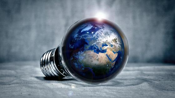 Земля в лампочке