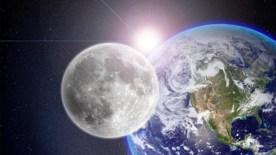 Луна и Земля