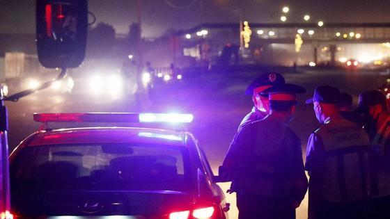 Полицейские на дороге